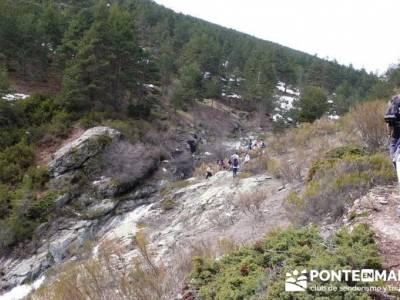 Zona alta de la Chorrera de San Mamés - sierra de madrid; trekking material